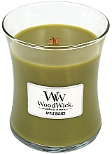 Fragrances, Perfumes, Cosmetics Scented Candle in Glass - WoodWick Hourglass Candle Apple Basket