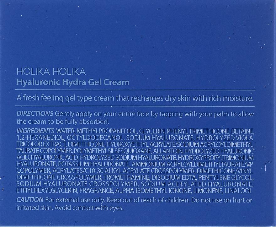 Hyaluronic Acid Facial Cream Gel - Holika Holika Hyaluronic Hydra Gel — photo N3