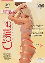 "Fragrances, Perfumes, Cosmetics Tights ""Active Soft"" 40 Den, natural - Conte"