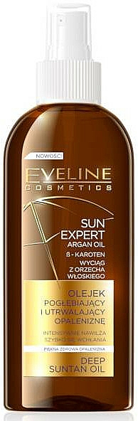 Tanning Oil - Eveline Sun Expert Argan Oil Deep Suntan Oil