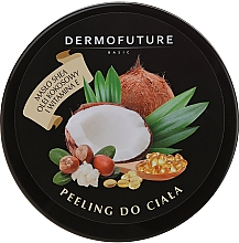 Fragrances, Perfumes, Cosmetics Sugar Body Scrub with Shea Butter & Coconut Oil - DermoFuture Sugar Body Scrub