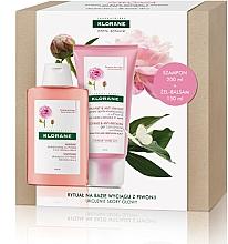 Fragrances, Perfumes, Cosmetics Set - Klorane Peony (shm/200ml + cond/150ml)