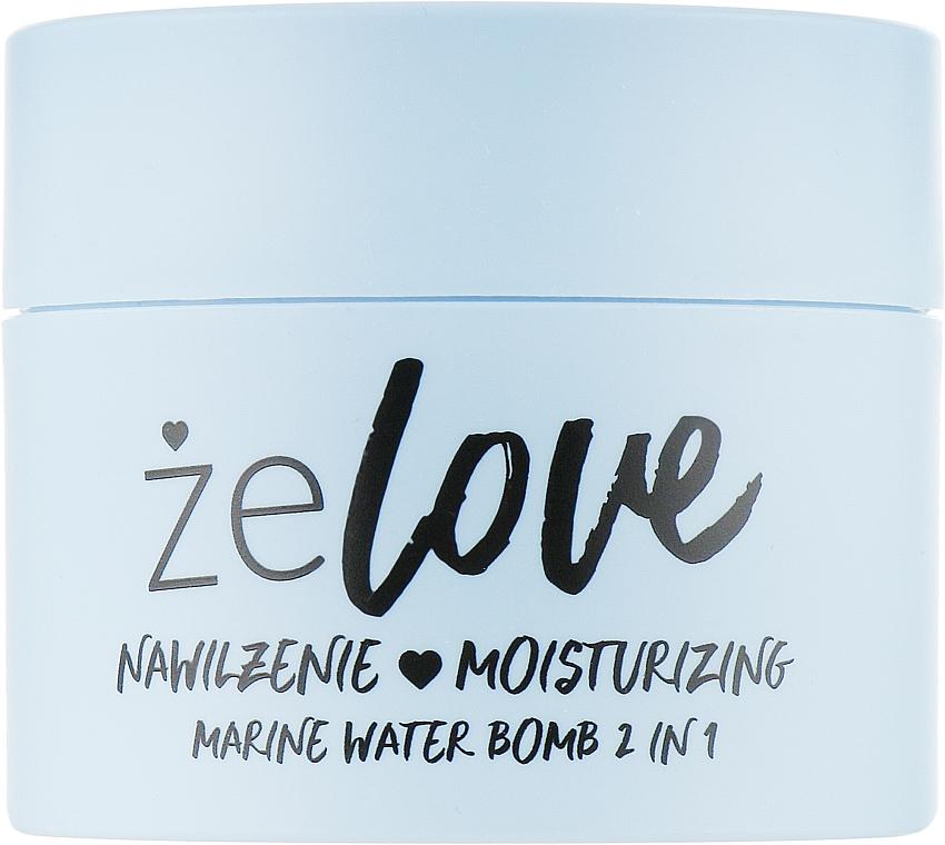 Moisturizing Gel for Face, Neck and Decollete - FlosLek ZeLove Moisturizing Marine Water Bomb 2in1