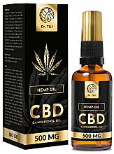 Fragrances, Perfumes, Cosmetics Natural Hemp Oil Bio CBD 500mg - Dr. T&J Bio Oil