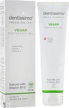 "Fragrances, Perfumes, Cosmetics Tooth Paste-Gel ""Vegan"" with Vitamin B12 - Dentissimo Vegan with Vitamin B12"