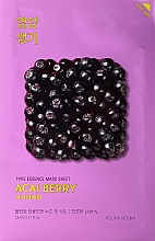 Fragrances, Perfumes, Cosmetics Vitaminizing Facial Sheet Mask with Acai Berry - Holika Holika Pure Essence Mask Sheet Acai Berry
