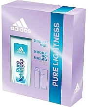 Fragrances, Perfumes, Cosmetics Adidas Pure Lightness - Set (deo/75ml+spray/150ml)