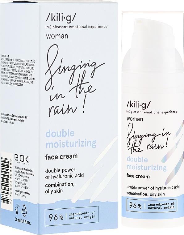 Facial Cream with Moisturizing Effect - Kili·g Woman Double Moisturizing Cream
