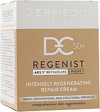 Fragrances, Perfumes, Cosmetics Night Regenerative Repair Cream 50+ - Dermedic Regenist ARS 5 Retinolike Night Intensely Regenerating Repair Cream