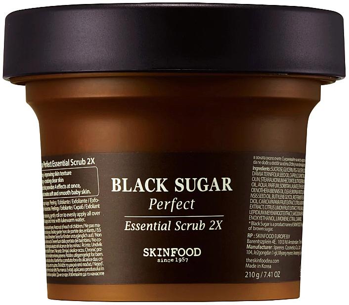 Black Sugar Face Scrub - SkinFood Black Sugar Perfect Essential Scrub 2X