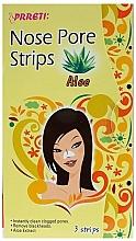 Fragrances, Perfumes, Cosmetics Cleransing Pore Nose Strips - Prreti Nose Pore Strips Aloe