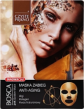 Fragrances, Perfumes, Cosmetics Anti-Aging Face Mask - Czyste Piekno Bosca Anti-Aging 24K Golden Mask