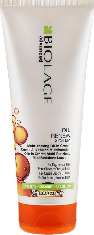 Leave-In Cream for Porous Hair - Biolage Advanced Oil Renew Multi-Tasking