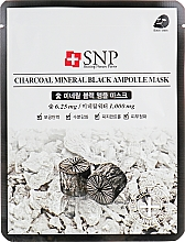 Fragrances, Perfumes, Cosmetics Purifying Charcoal Face Mask - SNP Charcoal Mineral Black Ampoule Mask