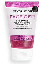 Fragrances, Perfumes, Cosmetics Peel Off Face Mask - Revolution Skincare Face Off! Pink Glitter Face Off Mask