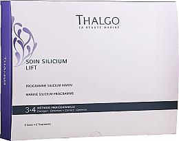 Fragrances, Perfumes, Cosmetics Set - Thalgo Marine Silicium Programme (f/ser/6x3ml + f/filler/6x2ml + f/mask/6x100g + f/mask/6pcs + f/ser/6x10ml)