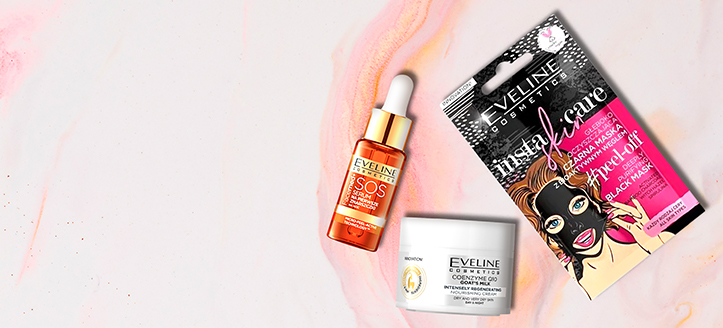 Buy Eveline Cosmetics for the total amount of £8 or more and get free gifts