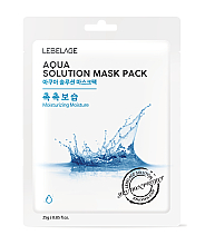 Fragrances, Perfumes, Cosmetics Facial Sheet Mask - Lebelage Aqua Solution Mask