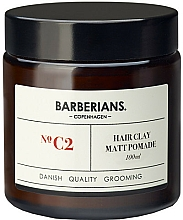 Fragrances, Perfumes, Cosmetics Clay Hair Pomade - Barberians. №C2 Hair Clay Matt Pomade