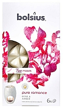 "Fragrances, Perfumes, Cosmetics Scented Wax ""Rose & Amber"" - Bolsius True Moods Pure Romance Rose & Amber"