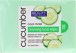 Fragrances, Perfumes, Cosmetics Makeup Remover Wipes with Cucumber Extract - Beauty Formulas Cucumber Cleansing Facial Wipes