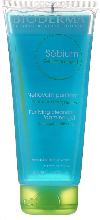 Cleansing Gel (tube) - Bioderma Sebium Foaming Gel