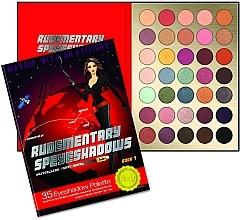 Fragrances, Perfumes, Cosmetics Eyeshadow Palette, 35 Shades - Rude Rudementary Speyeshadows