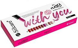 Fragrances, Perfumes, Cosmetics Set - Silcare With You Flexy Hybrid Gel Set (nail/polish/10x4.5g)