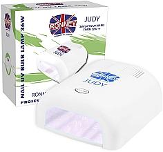 Fragrances, Perfumes, Cosmetics Nail Lamp UV, white - Ronney Profesional Judy UV 36W (GY-UV-230) Lamp