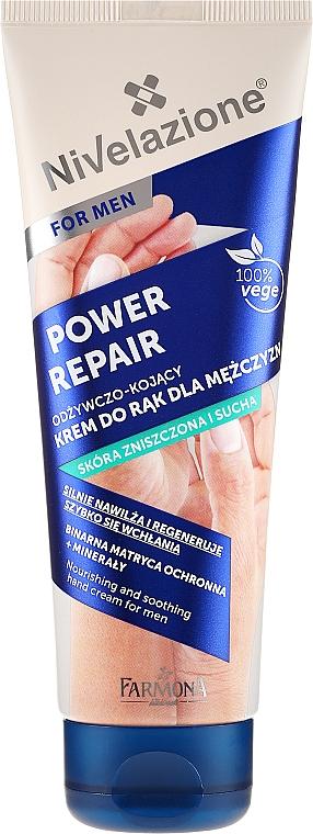 Hand Cream - Farmona Nivelazione Power Repair Nourishing And Soothing Hand Cream For Men