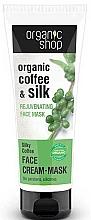 "Fragrances, Perfumes, Cosmetics Rejuvenating Face Mask ""Silk Coffee"" - Organic Shop Cream Mask Face"
