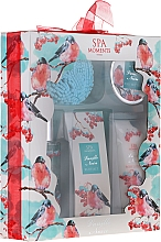 Fragrances, Perfumes, Cosmetics Set - Spa Moments Vanille Noire (sh/gel/100ml+b/lot/60ml+oil/50+salf/50+sh/sponge)