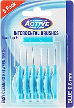 Fragrances, Perfumes, Cosmetics Interdental Brush, 0,6 mm, blue - Beauty Formulas Active Oral Care Interdental Brushes Blue