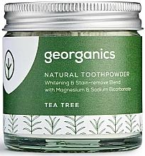 Fragrances, Perfumes, Cosmetics Natural Toothpowder - Georganics Tea Tree Natural Toothpowder