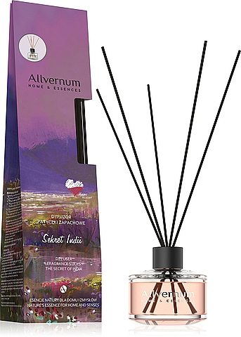 """Reed Diffuser """"The Secret of India"""" with sticks - Allverne Home&Essences Diffuser"""