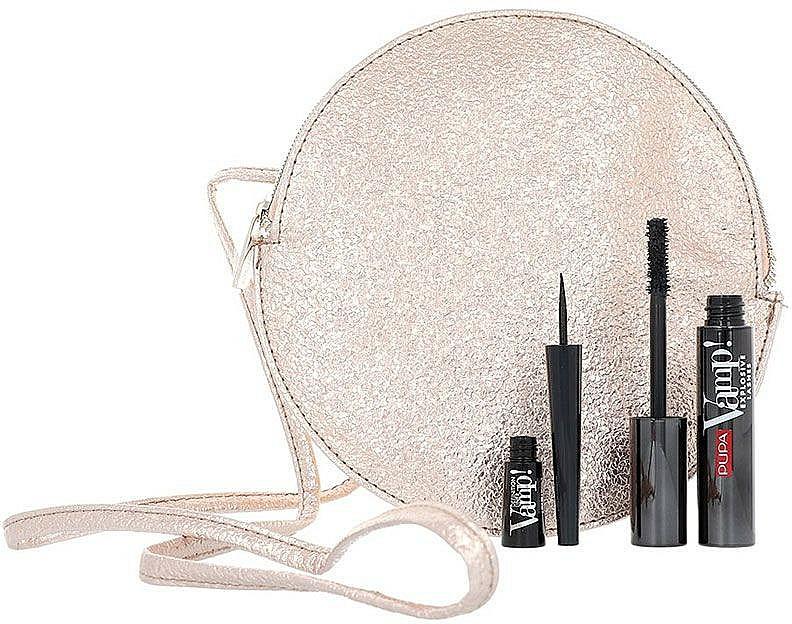Set - Pupa Limited Edition (masscara/12ml + eyeliner/2.5ml + bag) — photo N2