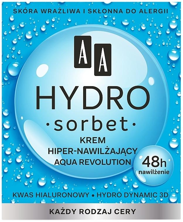 Ultra-Moisturizing Facial Cream - AA Hydro Sorbet Aqua Revolution Moisturizing Cream