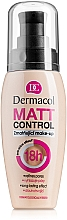 Fragrances, Perfumes, Cosmetics Waterproof Matte Foundation - Dermacol Matt Control