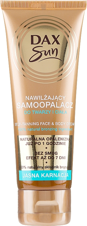 Self-Tanning Cream for Fair Skin - DAX Sun Extra Bronze Self-Tanning Cream