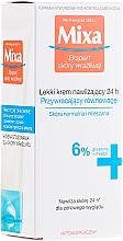 Fragrances, Perfumes, Cosmetics Normal and Combination Skin Moisturizing Cream - Mixa Sensitive Skin Expert 24 HR Moisturising Cream