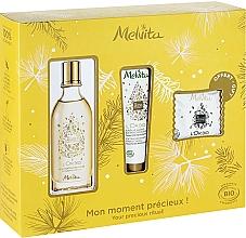 Fragrances, Perfumes, Cosmetics Set - Melvita L'Or Bio Set (soap/20g + oil/50ml + h/cr/30ml)