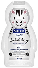 Fragrances, Perfumes, Cosmetics Hair and Body Cleanser 'White Chocolate' - On Line Le Petit White Chocolate 3 In 1 Hair Body Face Wash