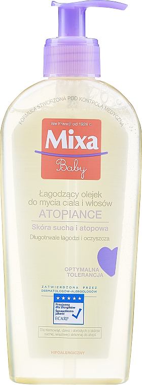 Soothing Cleansing Body & Hair Oil - Mixa Baby Atopiance Soothing Cleansing Oil For Body & Hair