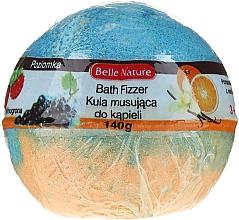 Fragrances, Perfumes, Cosmetics Fizzy Bath Bomb, orange-blue - Belle Nature Bath Fizzer