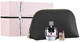 Fragrances, Perfumes, Cosmetics Yves Saint Laurent Mon Paris - Set (edp/90ml + lipstick/1.6g + pouch)