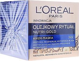 Fragrances, Perfumes, Cosmetics Night Face Cream - L'Oreal Paris Nutri Gold Night Cream-Mask
