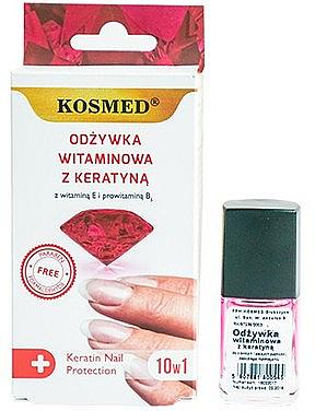 Vitamin Nail Polish with Keratin - Kosmed Colagen Nail Protection 10in1