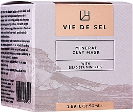 Fragrances, Perfumes, Cosmetics Mineral Face Mask - Vie De Sel Mineral Clay Mask With Dead Sea Minerals