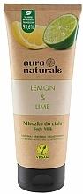 Fragrances, Perfumes, Cosmetics Lemon & Lime Body Milk - Aura Naturals Lemon & Lime Body Milk