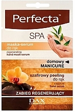 Fragrances, Perfumes, Cosmetics Regenerating Hand Serum Mask - Perfecta Spa Hand Peeling